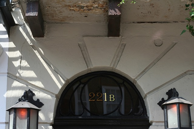 Dirección de Londres del detective ficticio Sherlock Holmes, creado por el autor Sir Arthur Conan Doyle