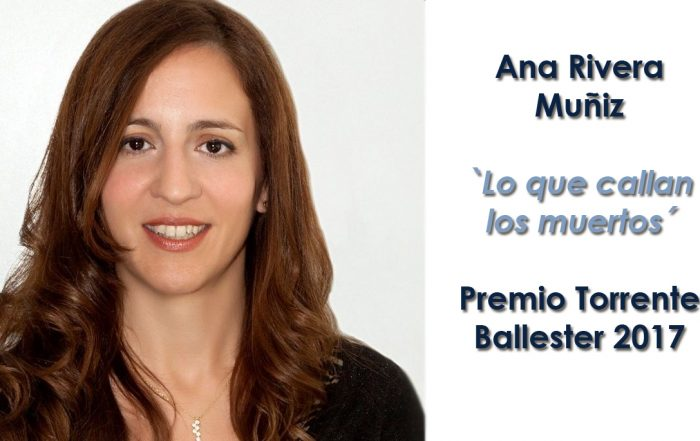 Ana Lena Rivera, Premio Torrente Ballester 2017