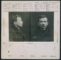 Ficha policial del delincuente anarquista Jules Bonnot