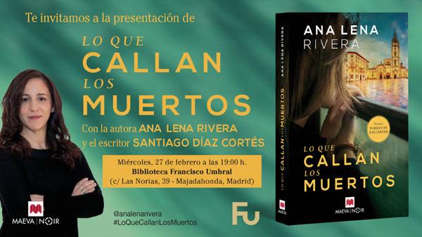 27/02/2019: MADRID. Presentación de Lo que callan los muertos.