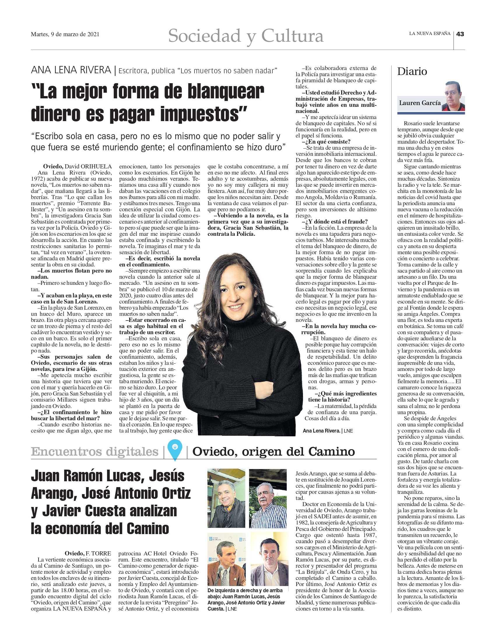 Entrevista en La Nueva España Marzo 2021